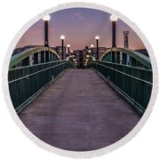 Bridge To Beauty Round Beach Towel