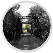 Bridge To Oz Round Beach Towel