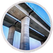 Bridge To The Heaven Round Beach Towel