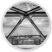 Bridge View In Portsmouth Nh Round Beach Towel