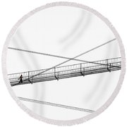 Bridge Walker Round Beach Towel