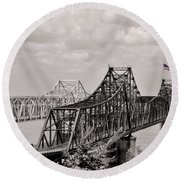 Bridges At Vicksburg Mississippi Round Beach Towel