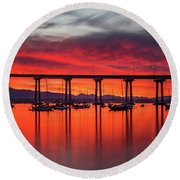 Bridgescape Round Beach Towel