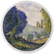 Bridlington Priory From Woldgate On The Hockney Trail Round Beach Towel