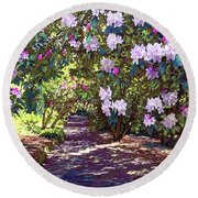Bright And Beautiful Spring Blossom Round Beach Towel