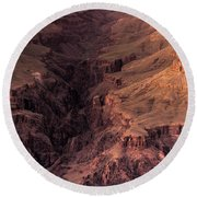 Bright Angel Canyon Grand Canyon National Park Round Beach Towel