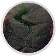 Bright Angel Trail From The South Rim, Grand  Canyon Round Beach Towel