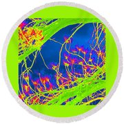 Bright Branches Round Beach Towel