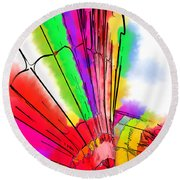 Round Beach Towel featuring the digital art Bright Colored Balloons by Kirt Tisdale
