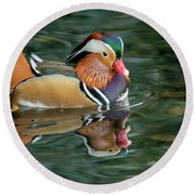 Bright Colours Reflection  Round Beach Towel
