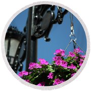 Bright Momories From Plovdiv 1 Round Beach Towel