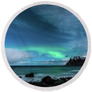 Bright Night Round Beach Towel