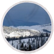 Round Beach Towel featuring the photograph Bright Patch Of Sunshine by Will Borden