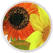 Bright Trio Round Beach Towel by Kathy Bassett
