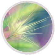 Bright Weed Round Beach Towel by Terry Davis