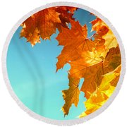 The Lord Of Autumnal Change Round Beach Towel