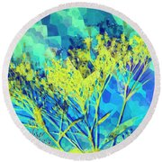 Round Beach Towel featuring the digital art Brighter Day by Shawna Rowe