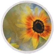 Brighter Than Sunshine Round Beach Towel
