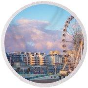 Brighton Ferris Wheel Round Beach Towel