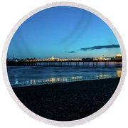 Brighton Pier At Sunset Ix Round Beach Towel