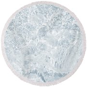 Round Beach Towel featuring the photograph Brilliant Shine. Series Ethereal Blue by Jenny Rainbow