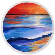 Brilliant Sundown Round Beach Towel