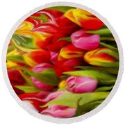 Bring Color Into Your Life Round Beach Towel by Gabriella Weninger - David