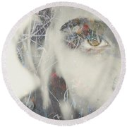Round Beach Towel featuring the photograph Bring On The Dancing Horses  by Paul Lovering