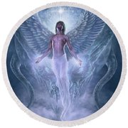 Bringer Of Light Round Beach Towel