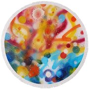 Bringing Life Spray Painting  Round Beach Towel