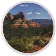 Brins Mesa Trail Vista Round Beach Towel