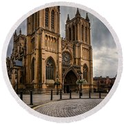 Bristol Cathedral Round Beach Towel