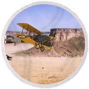 Round Beach Towel featuring the photograph Bristol Fighter - Aden Protectorate  by Pat Speirs