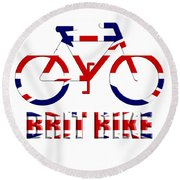 Brit Bike Round Beach Towel