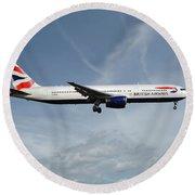 British Airways Boeing 767-336 Round Beach Towel