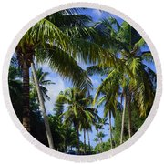 Broad Avenue South, Old Naples Round Beach Towel