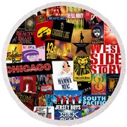 Broadway 10 Round Beach Towel by Andrew Fare