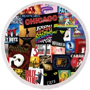 Broadway 3 Round Beach Towel