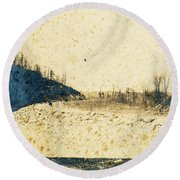 Broadway And Riverside Drive, 1905 Round Beach Towel