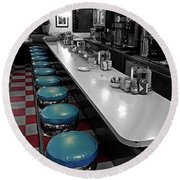 Broadway Diner Chairs Round Beach Towel
