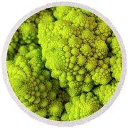 Broccoli Romanesco Round Beach Towel