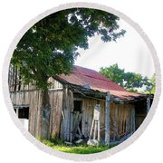 Brokedown Barn Round Beach Towel