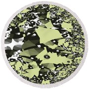 Broken Abstract Round Beach Towel