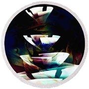 Round Beach Towel featuring the digital art Broken Glass by Anastasiya Malakhova