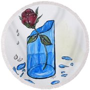 Broken Promise Rose Round Beach Towel