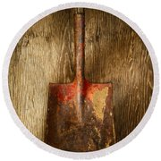 Tools On Wood 2 Round Beach Towel
