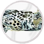Broken Siesta Round Beach Towel by Mark Adlington