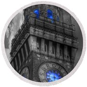 Bromo Seltzer Tower Baltimore - Blue  Round Beach Towel
