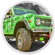 Bronco 1 Round Beach Towel