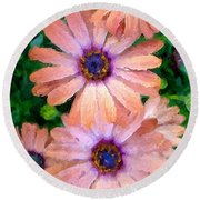 Round Beach Towel featuring the photograph Bronze Beauty  by Heidi Smith